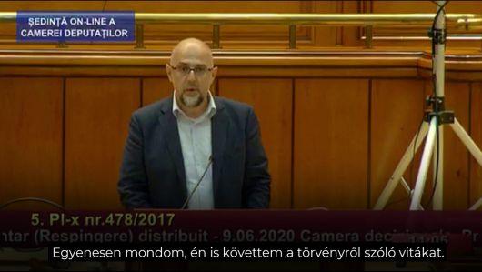Discursul președintelui UDMR, Kelemen Hunor rostit astăzi în plen, în cadrul dezbaterii proiectului de lege privind consacrarea zilei de 15 Martie ca sărbătoare a comunităţii maghiare din România